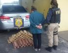 PRF apreende 60kg de maconha e recupera veículo roubado em Osório