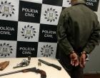 Após denúncia de tiroteio, homem é preso com armas em Osório