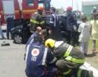 Colisão entre ônibus e carro deixa feridos em Osório