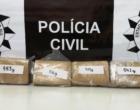Após denúncia anônima, polícia apreende mais de dois quilos de maconha em Arroio do Sal