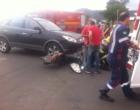 Colisão deixa motociclista ferida em Osório