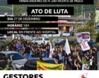 Trabalhadores do hospital de Osório farão manifestação contra os salários atrasados
