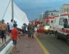 Vendaval derruba estrutura de evento e fere pessoas em Capão da Canoa