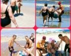 Guarda-vidas realiza sonho de cadeirante de se banhar no mar