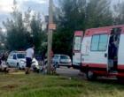 Duas pessoas ficam feridas em acidente envolvendo moto e carro na ERS-786