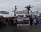 Pesca Amadora: manifestantes protestam na Ponte Giuseppe Garibaldi