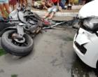 Colisão fere motociclista no centro de Tramandaí