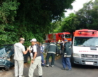 Colisão envolve carro e caminhão no Morro da Borússia em Osório