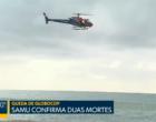 Helicóptero da Globo cai próximo a praia no Recife