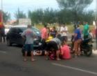 Acidente entre moto e carro deixa dois feridos em Nova Tramandaí