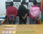 Mulheres são presas comercializando drogas em Balneário Pinhal