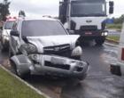 Acidente envolve dois veículos em trevo da Estrada do Mar em Osório