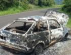 Veículo é encontrado incendiado na BR-101