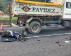 Motociclista fica gravemente ferido em acidente envolvendo caminhão em Osório