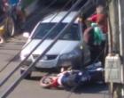 Colisão envolve carro e moto em Osório