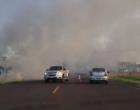 Incêndio em vegetação bloqueia a Estrada do Mar em Xangri-Lá