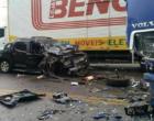 Acidente envolve caminhões e caminhonete na Rota do Sol