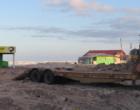 Retirada estrutura de antigo restaurante a beira mar de Tramandaí