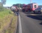 Acidente envolvendo caminhão deixa quatro feridos na ERS-030
