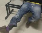 Foragido usando tornozeleira eletrônica, tenta fugir da BM, entrando em igreja em Osório