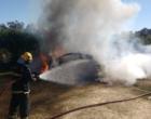 Motociclista é baleado em Tramandaí e carro usado no crime incendiado