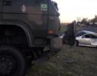 Colisão envolvendo caminhão do exército deixa três feridos em Osório