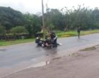 Falha em moto causa acidente com casal na ERS-030 em Osório