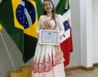 Câmara de Osório homenageou a 1ª Prenda Juvenil da 23ª Região Tradicionalista