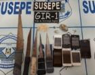 Revista encontra celulares e facas na penitenciária de Osório