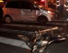 Motociclista tem fratura exposta na perna após acidente em Osório