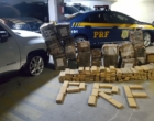 PRF encontra cerca de 450 kg de maconha dentro de veículo na freeway