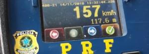 Em menos de 2 horas, PRF flagra 300 veículos acima da velocidade na freeway