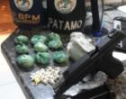 Quarteto é preso com drogas após tiroteio em Cidreira