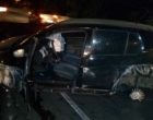 Saída de pista provoca estragos em veículo em Osório