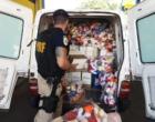 PRF apreende contrabando de bebidas e brinquedos em Osório