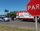 Mulher fica ferida após colisão entre veículos em Osório