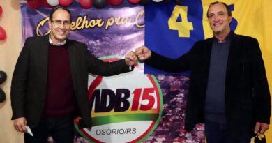 MDB e PSDB oficializam Roger Caputi e Martim Tressoldi para prefeito e vice em Osório