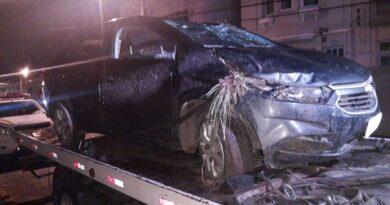 Criminoso capota veículo roubado durante perseguição em Santo Antônio da Patrulha