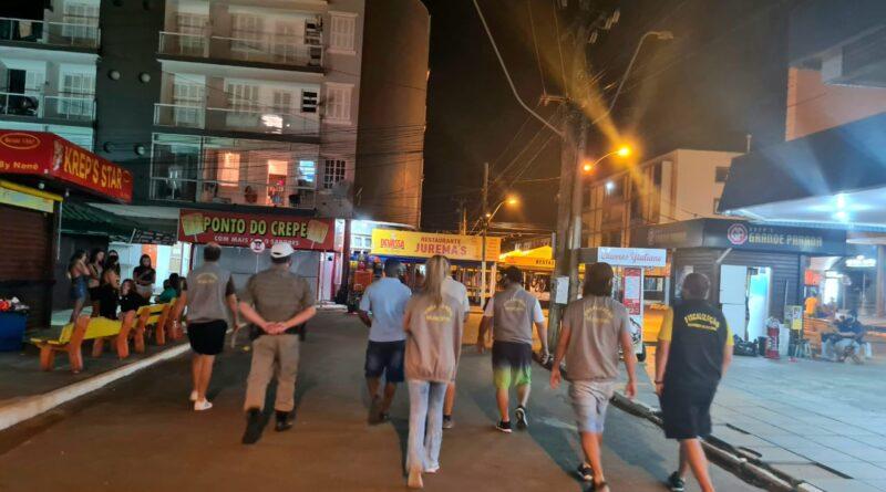 BM realiza ação de fiscalização e aborda 1667 pessoas na noite do Litoral